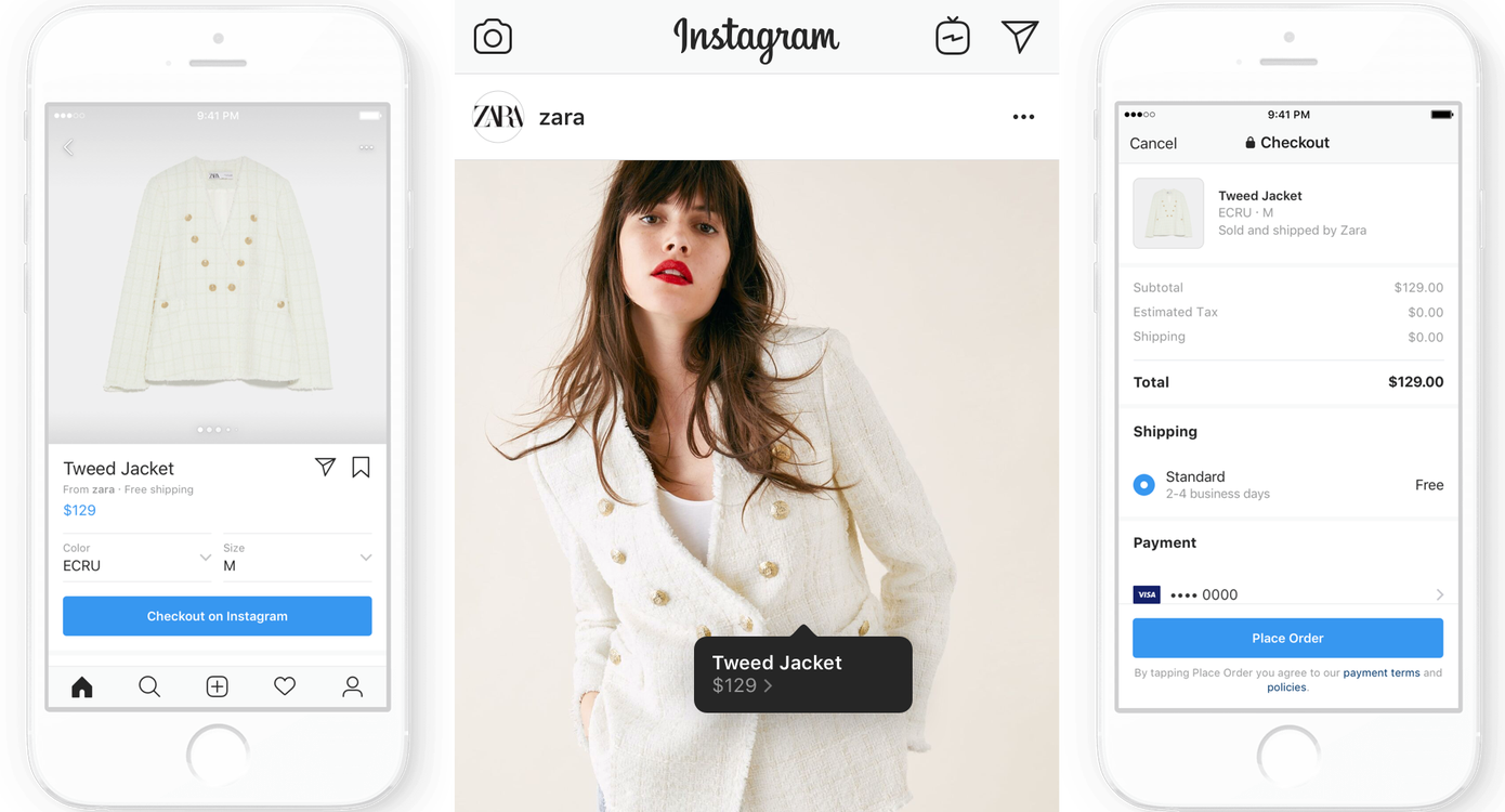 Instagram launches checkout feature through the app